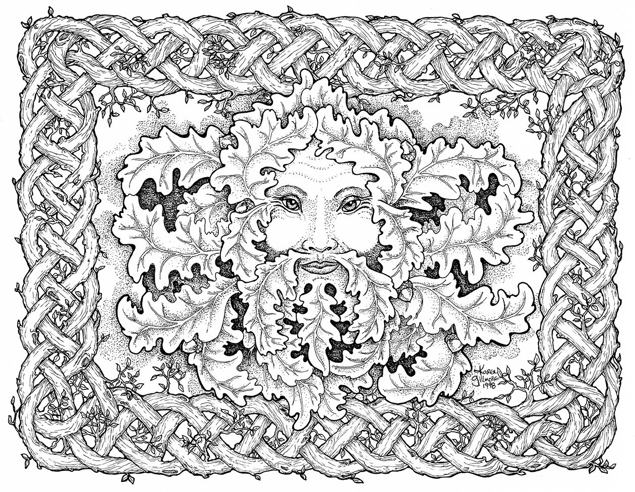 Free Celtic Coloring Pages Embellishing