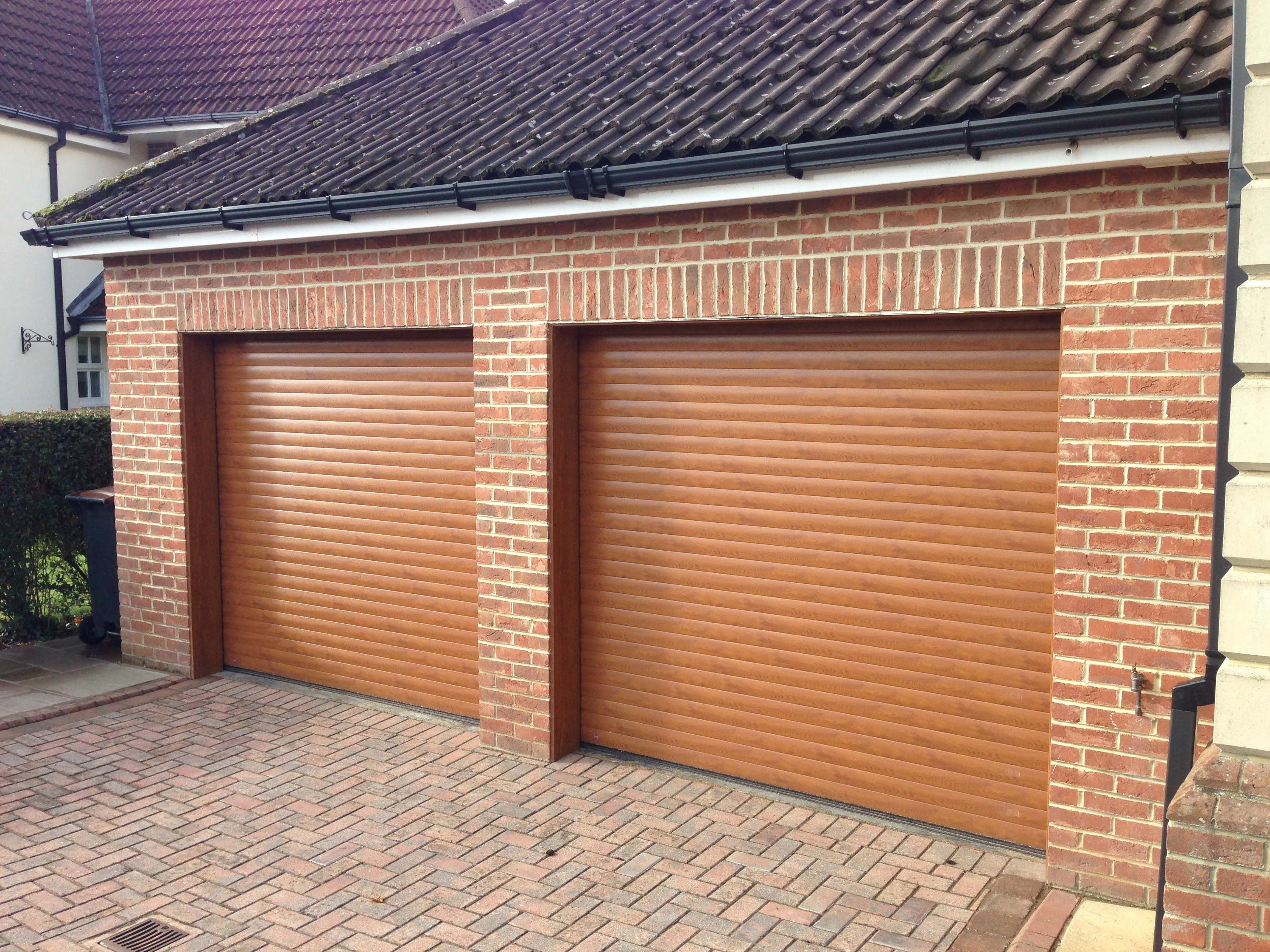 Seceuroglide insulated sectional garage door georgian cassette - Rollmatic Made To Measure Insulated Roller Door In Golden Oak