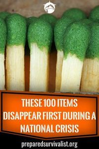 These 100 Items Disappear First During A National Crisis #hurricanefoodideas