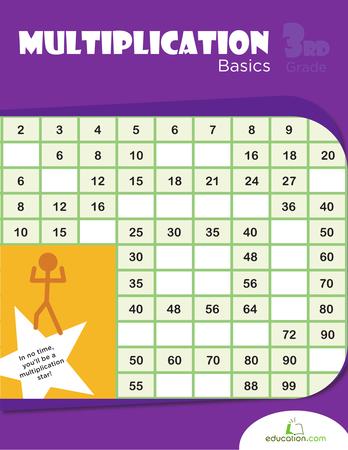 Multiplication Basics Workbook Education Com Third Grade Math Worksheets Multiplication Workbook