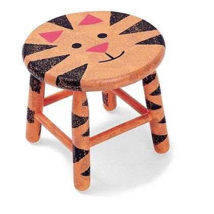 Tiger Step Stool Cute Maybe A Zebra Too Stools Re