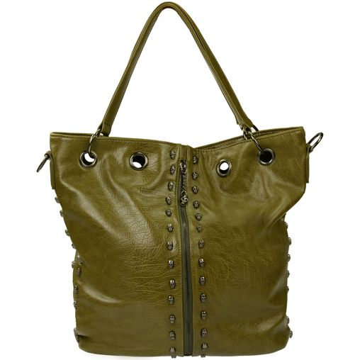 #SACHA // groene skulls handtas  �59,95  winter collection #2dayslook #kathyna257892 #wintercollection  www.2dayslook.com