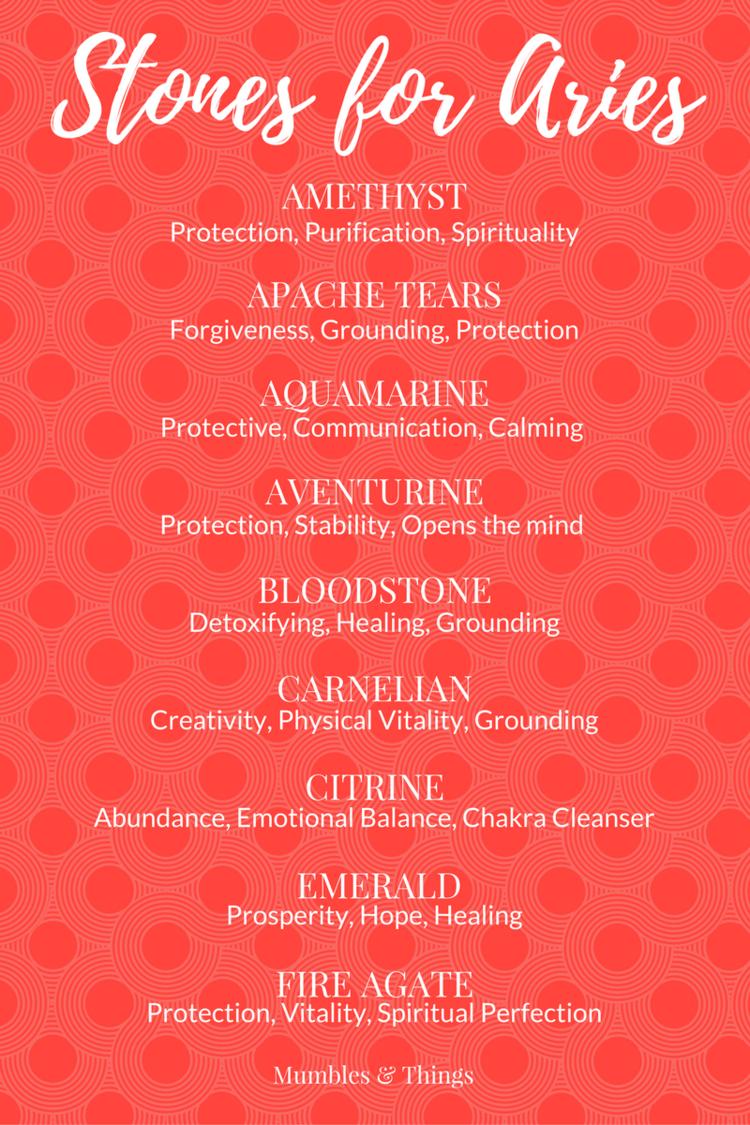 Stones for Aries-women. Stone mascot horoscope 14