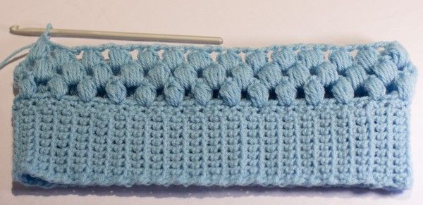 Bonnet bleu au crochet , en Tuto !