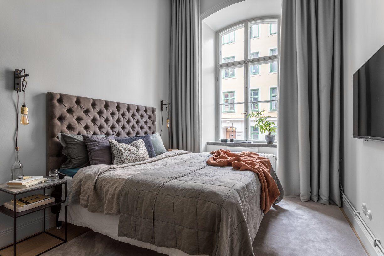 Mieszkanie Z Wysokim Sufitem Sypialnie Projekty Sypialni