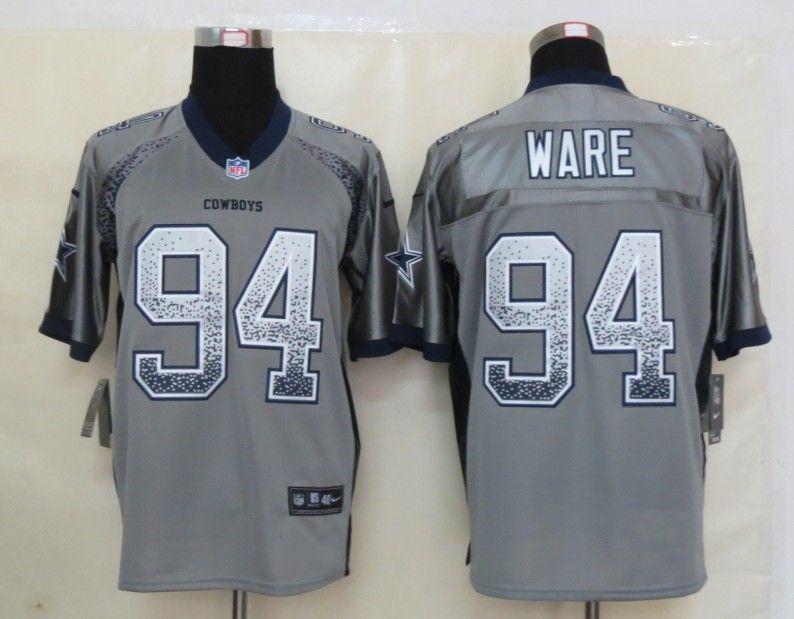 brand new 70e65 8cdae Men's NFL Dallas Cowboys #94 Ware Drift Fashion Grey Jersey ...