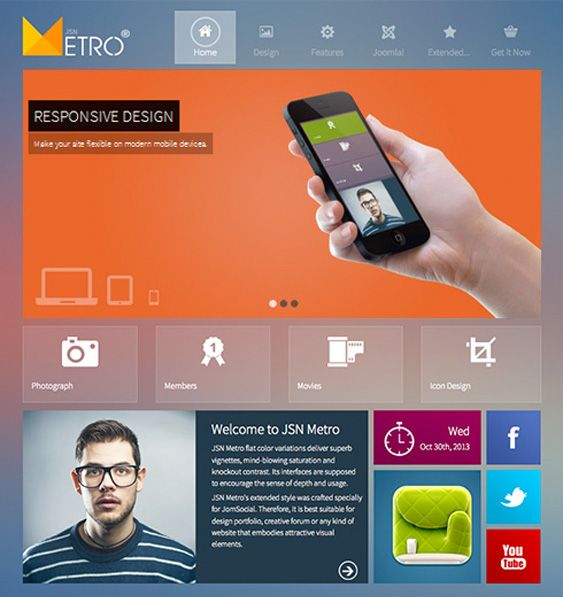 This Free Bootstrap Joomla Template Features A Responsive Layout A