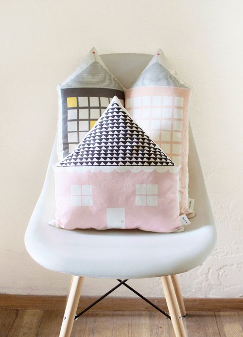 House Shaped Cushion By Plumed On Etsy Home Style