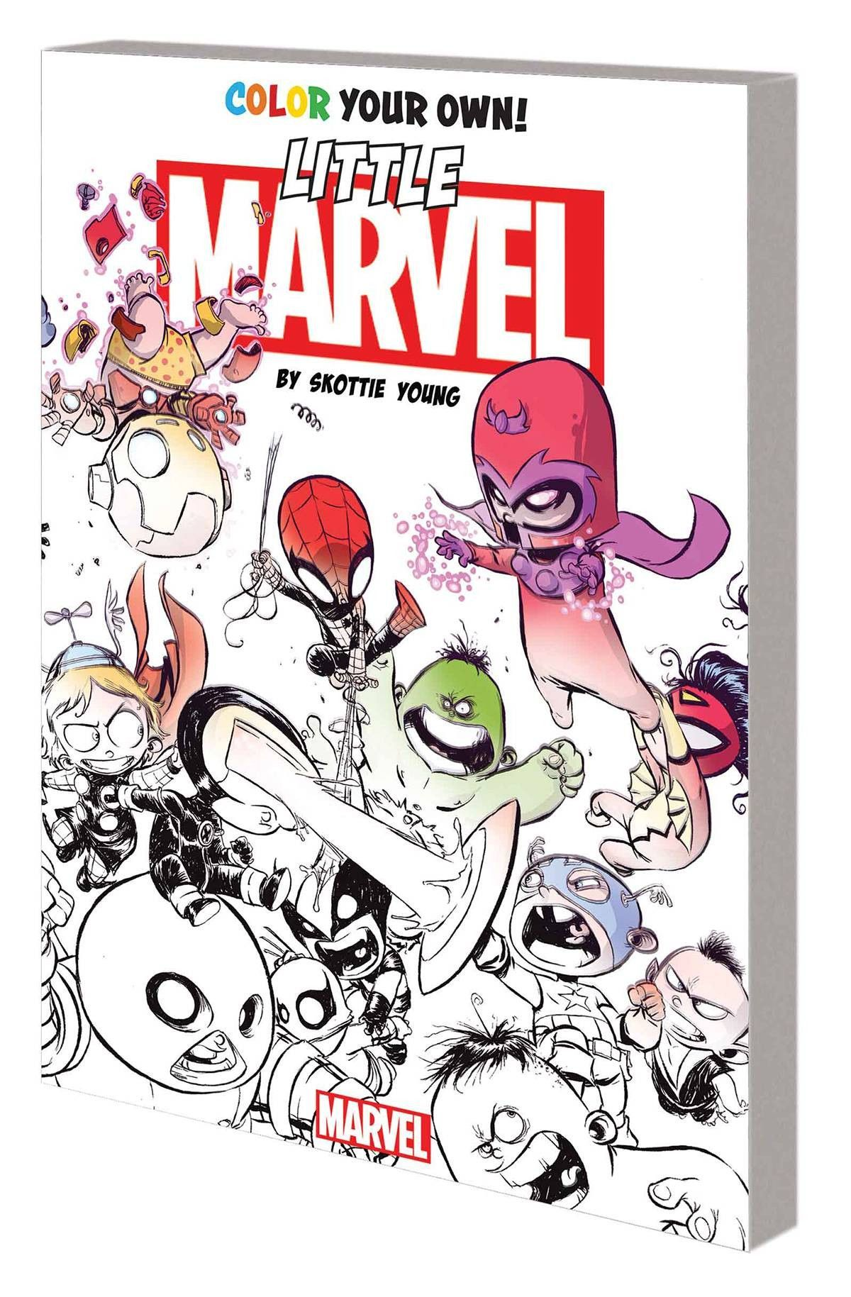Color Your Own Little Marvel by Skottie Young Coloring Book TP