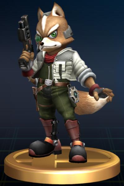 Fox Fox Mccloud Star Fox Super Smash Bros Super Smash Brothers Trophy Star Fox Fox Mccloud Super Smash Brothers
