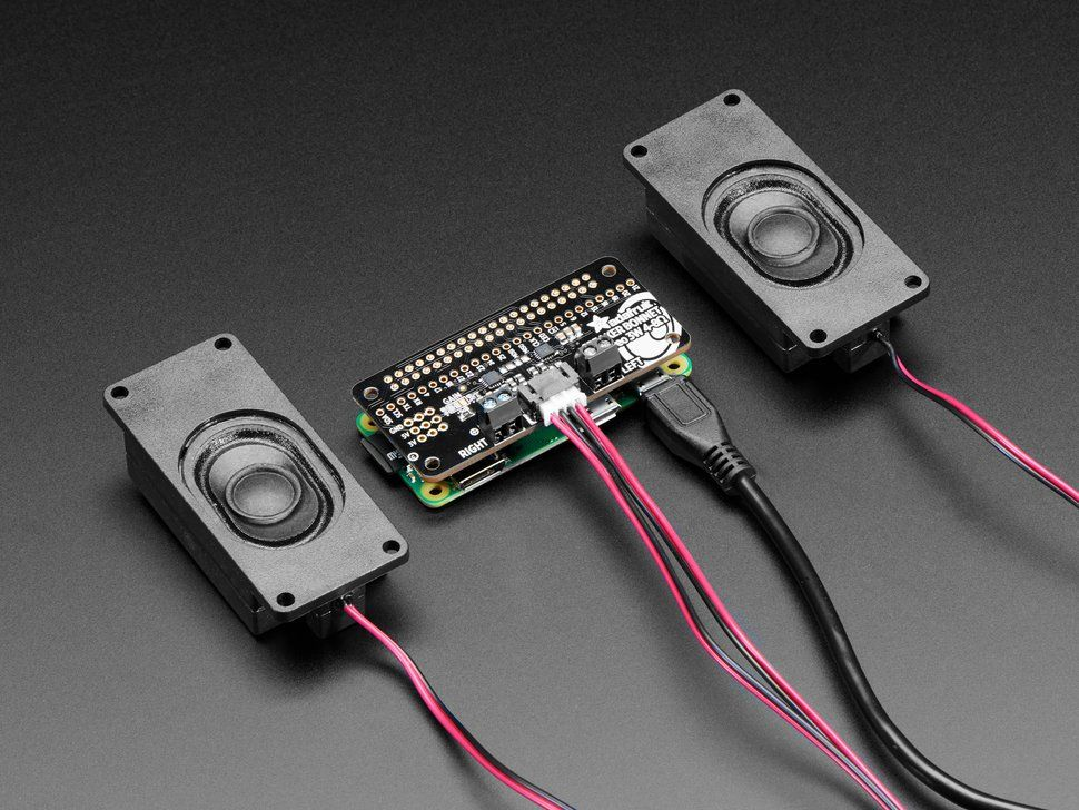 Stereo Bonnet Pack for Raspberry Pi Zero W - Includes Pi