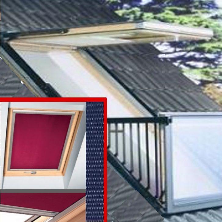 Sie sind glücklicher Besitzer eines Dachbalkonfensters? Super, so ein VELUX Cabrio Fenster, das ist Wohnkomfort unter'm Dach, wie man ihn sicht nicht besser wünschen kann. Perfekt dazu ein SOLARMATIC® Thermoverdunkelungsrollo oder auch ein Plissee.