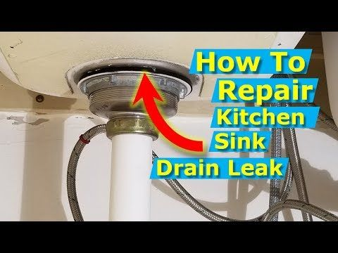 How To Replace A Kitchen Sink Drain Strainer Repair Leak
