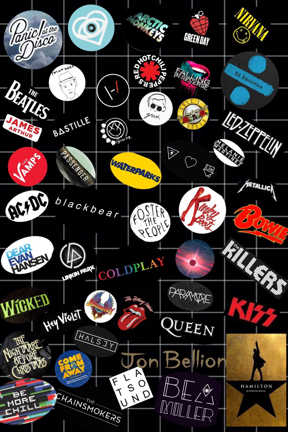 Pin by oscar-kloip on Musicals | Band wallpapers, Rock band posters, Band  posters