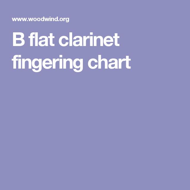 B Flat Clarinet Fingering Chart  Music    Clarinets