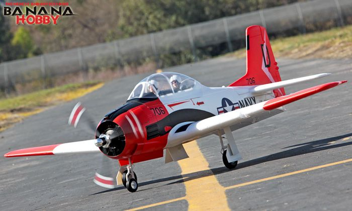 Giant Scale T-28 Trojan RC Warbird Trainer Airplane