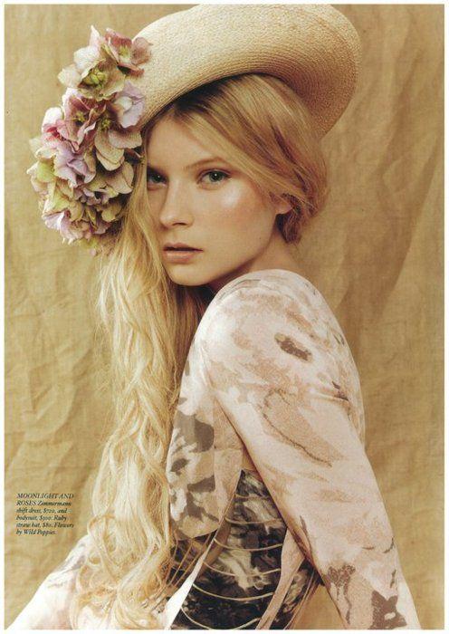 709391ad95c99 floppy floral dressy straw hats X ღɱɧღ