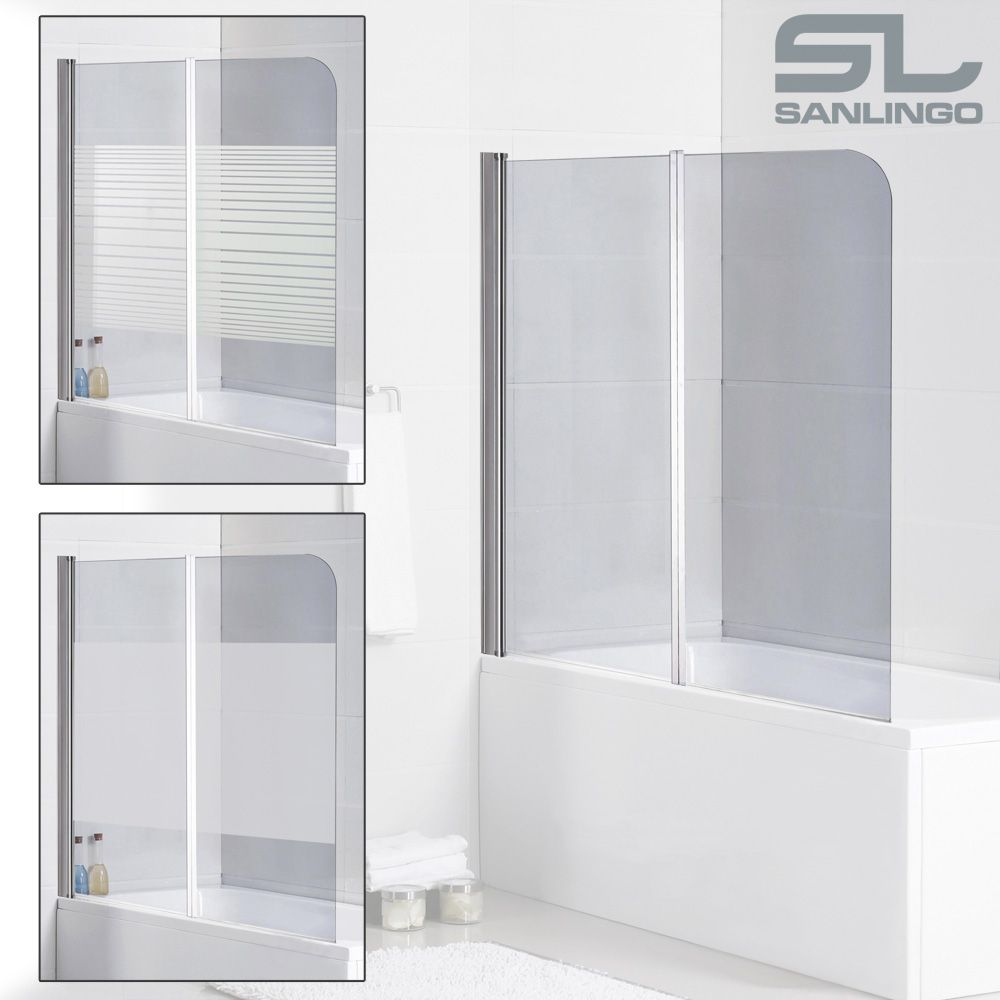 2teilige Glas Badewannen Faltwand Duschwand Real Badewanne Glas Badewanne Duschabtrennung