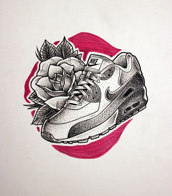 Tattoo designs · Nike Air Max tattoo sketch by KOREEE on DeviantArt