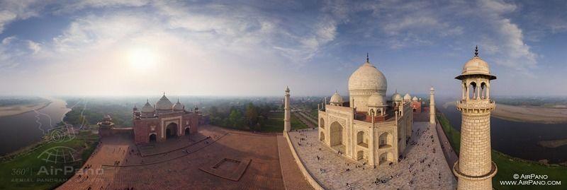 Taj Mahal, aerial photo