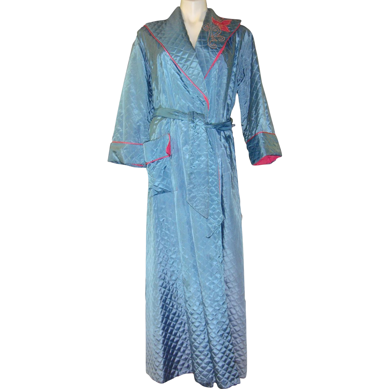Vintage 1950's Quilted Robe