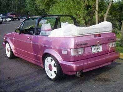 barbie car pink vw rabbit convertable mk1 want. Black Bedroom Furniture Sets. Home Design Ideas