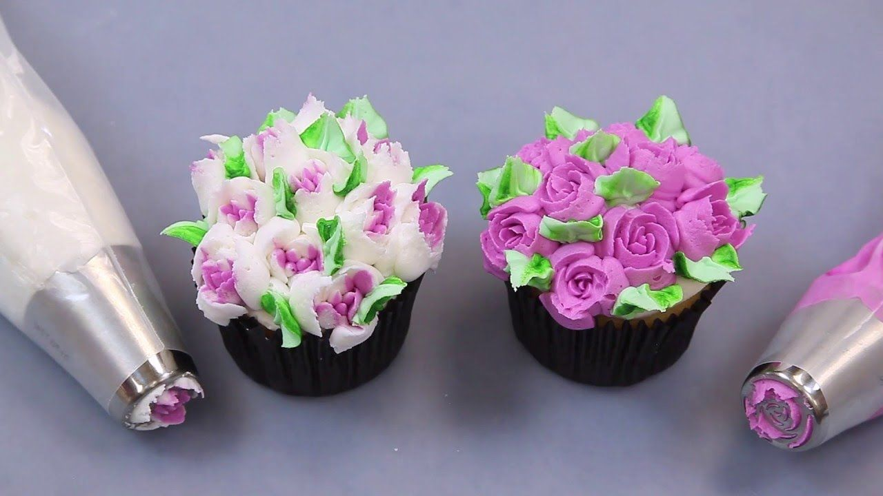 Cake Designs Using Cupcakes - Using russian tips