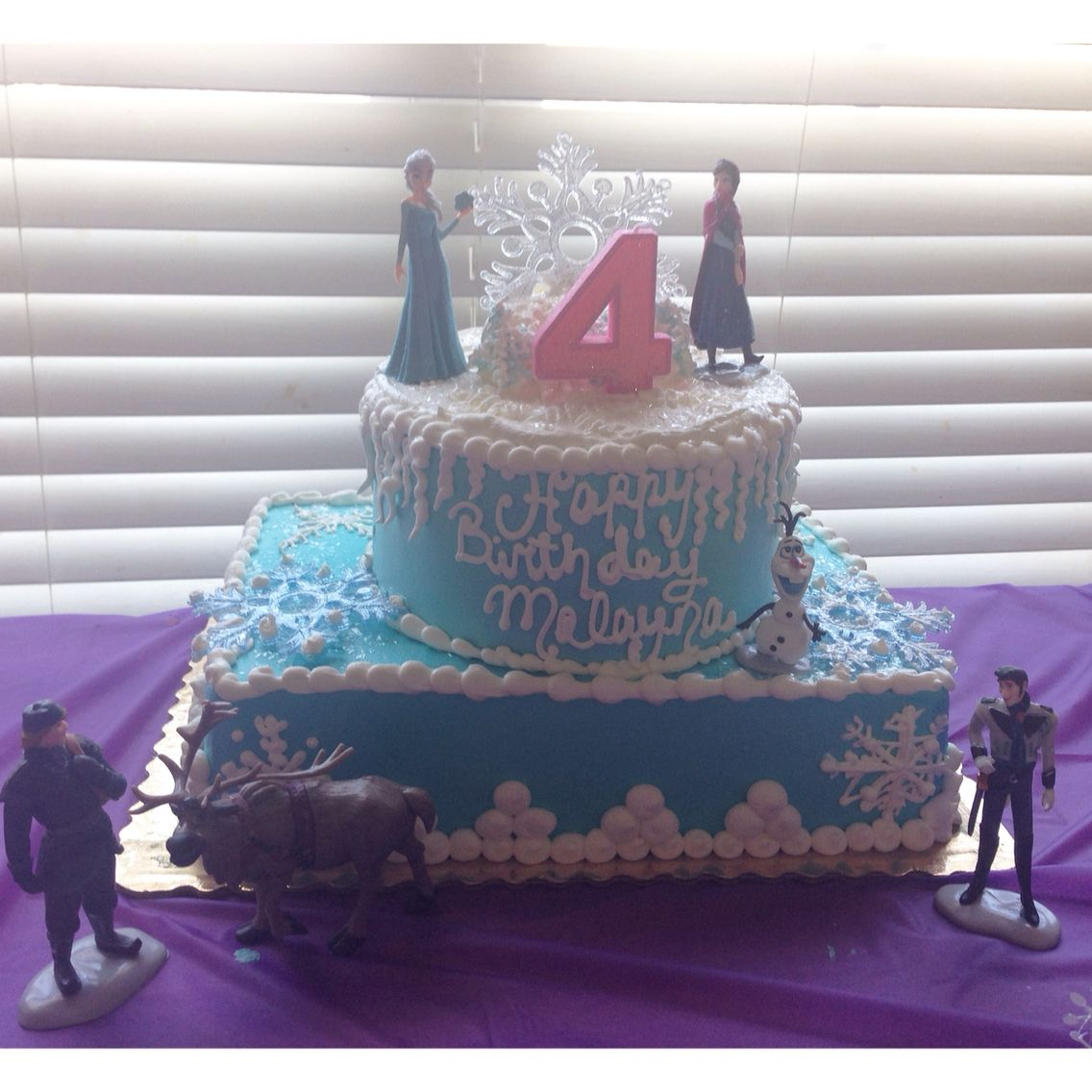 Frozen theme birthday cake Cake made and iced by Publix Things I