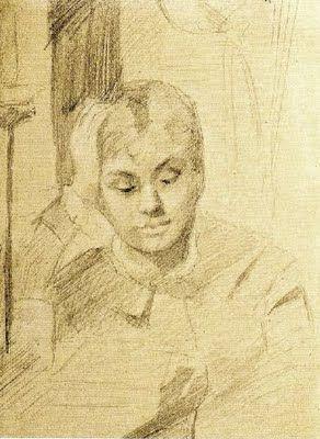 Reading and Art: Marie Bashkirtseff or Bashkirtseva, Jeune fille lisant