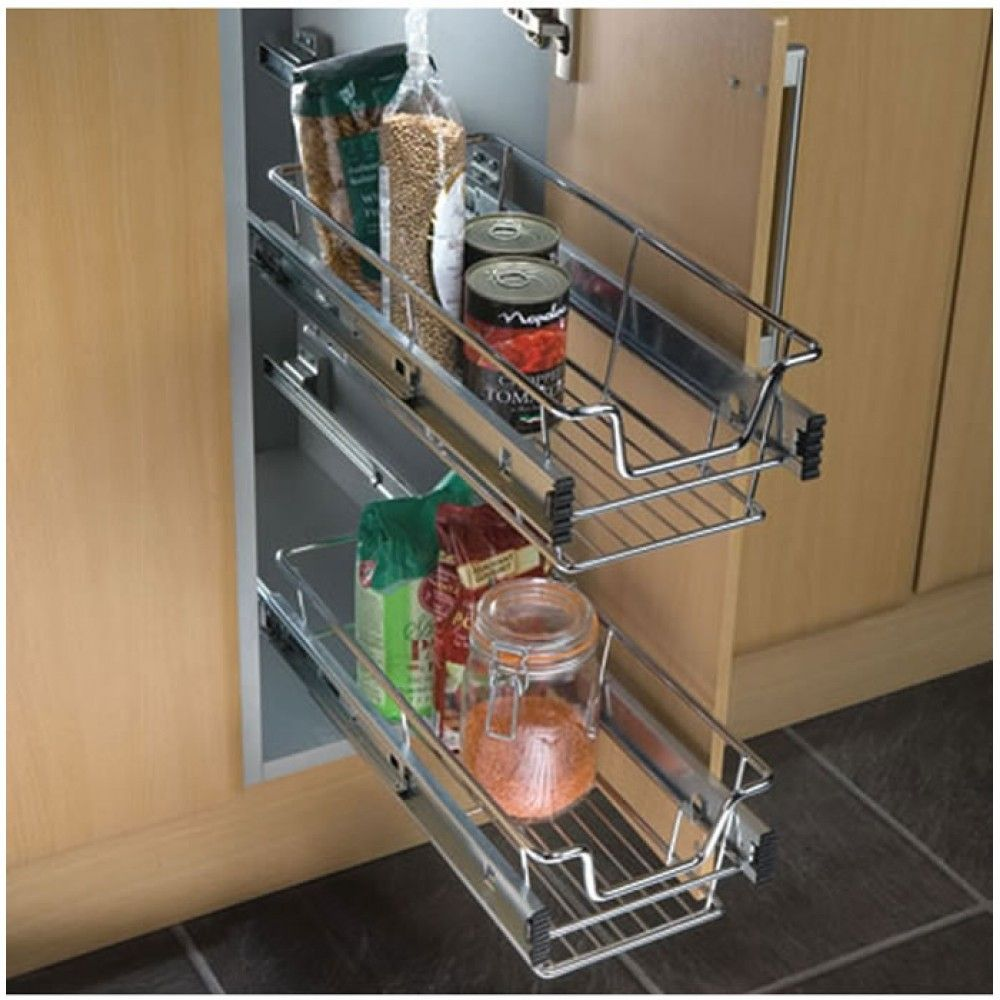 Slide Out Basket Drawers Wire Basket Storage Kitchen Cabinets