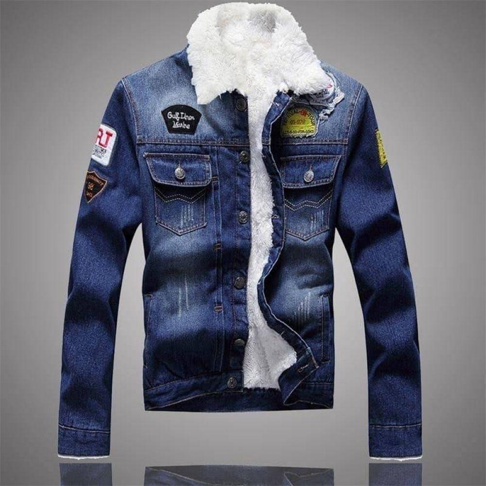 Men S Jacket And Coat Trendy Warm Fleece Denim Winter Jean Jacket Thick Winter Jacket For Male Classic Solid Outerwear Fleece Denim Jacket Denim Coat Jacket Winter Jacket Men [ 1000 x 1000 Pixel ]