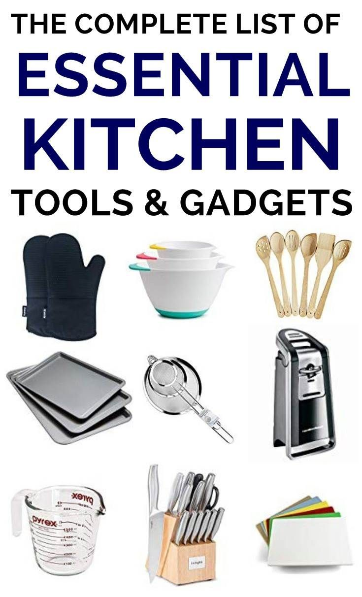 Basic starter kitchen needs list - the first tools you need for a new kitchen