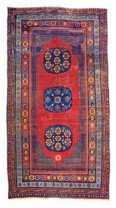 Khotan rug, East Turkestan, ca. 1800 nel 2020 Tappeti