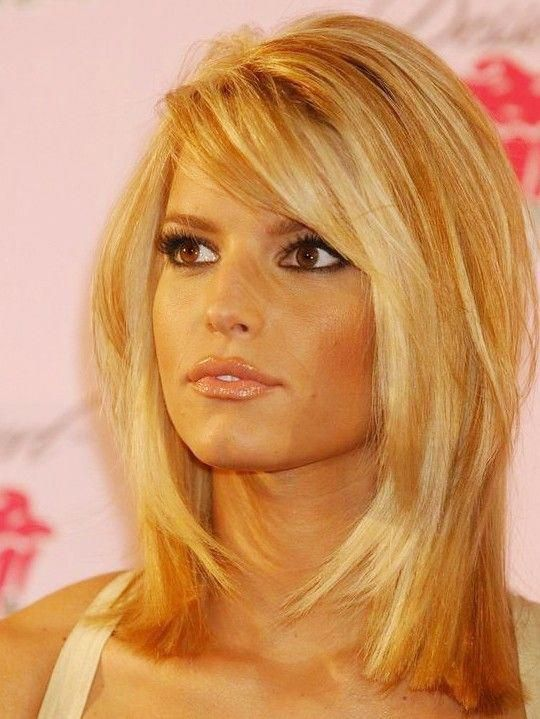 Jessica Simpson Medium Length Full Lace Straight Human Wigs, Jessica Simpson Hairstyle Wigs Online Sale | P4 #howtomakeyourhaircurly #jessicasimpsonhair