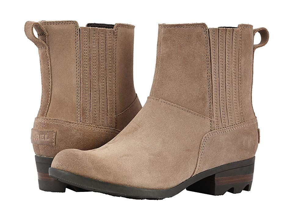 d76fa704c87 SOREL Lollatm Chelsea (Ash Brown Buffalo Suede) Women s Pull-on Boots.