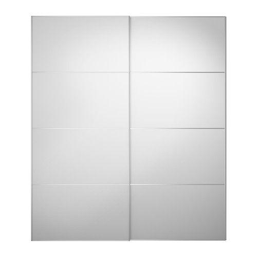 IKEA - AULI Pair of sliding doors mirror glass Pinterest Porte - Armoire Ikea Porte Coulissante