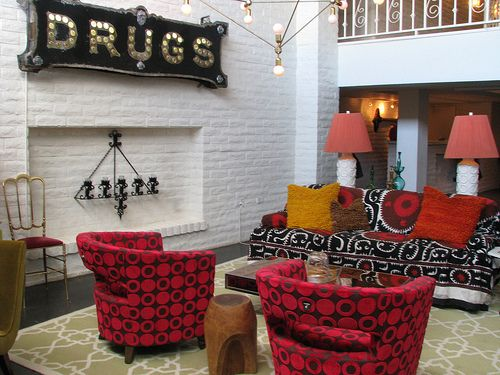 The Parker lounge - designed by Jonathan Adler