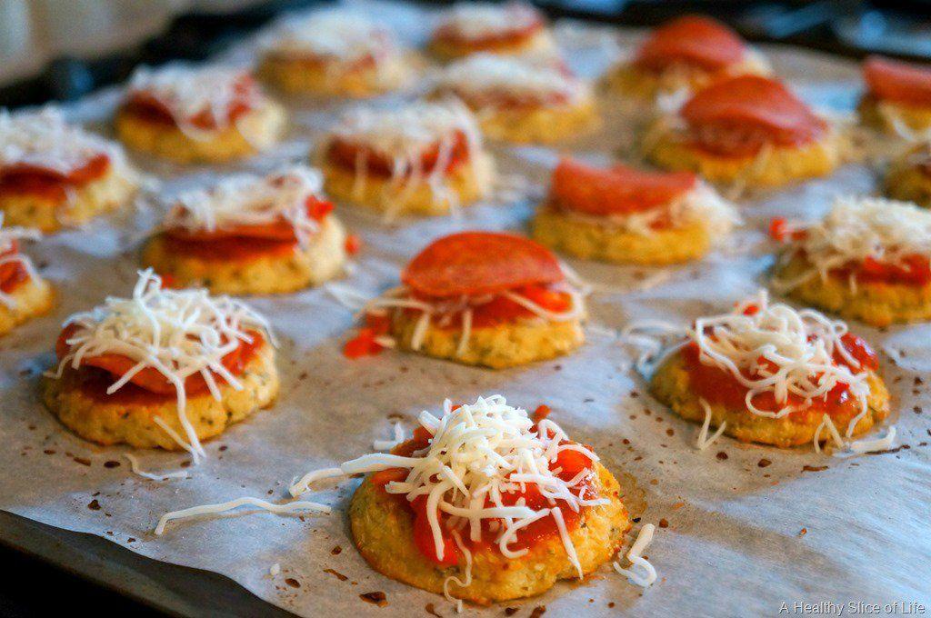 hidden veggie mini pizza bites- topping