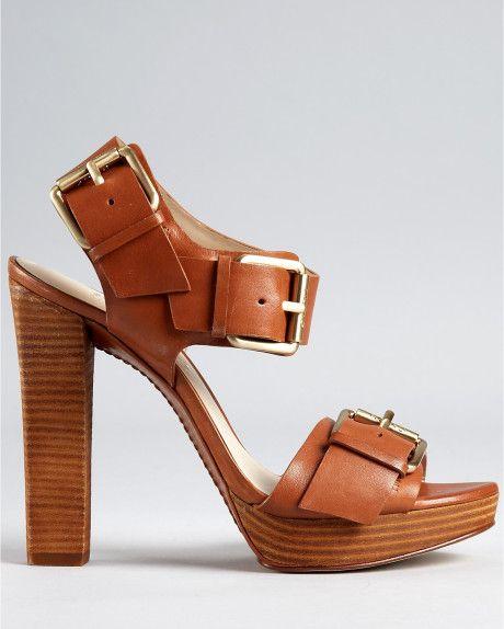 b18ab53ded6e Michael Kors Chilali High Heel Sandals in Brown (dark tan)