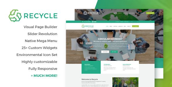 Recycle is a highly customisable WordPress theme, suitable for any