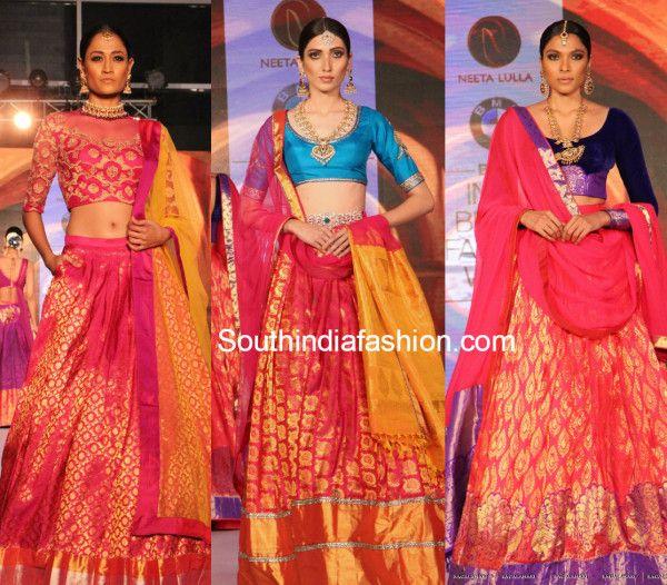 8447ea5f52e7 neetalulla_bmw_india_bridal_fashion_week_hyderabad_kanchipuram_lehengas  Silk Saree Kanchipuram, Silk Lehenga, Lehenga Style, Ghagra Choli, Indian  Bridal