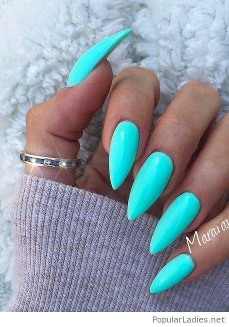 Just Bright Blue Gel Nails