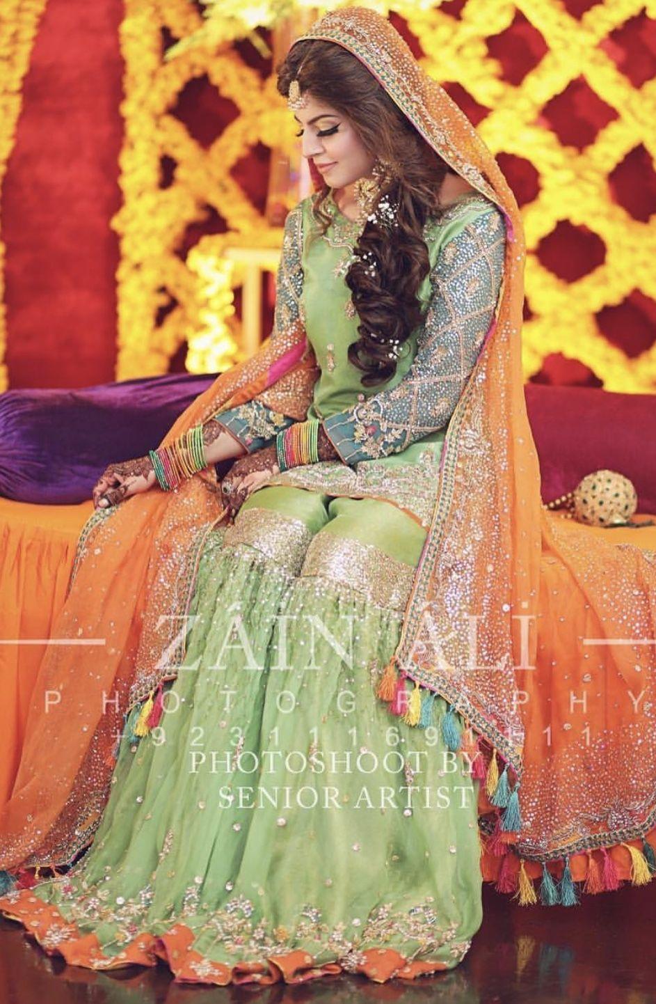 Mehndi Bride Bridal Dresses Pakistan Pakistani Fashion Party Wear Pakistani Wedding Outfits