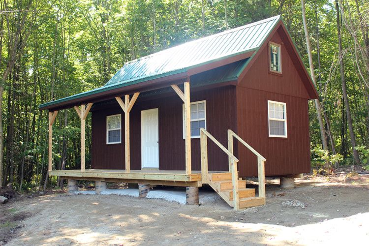 Cheap storage shed homes small or tiny house for Inexpensive lakefront property