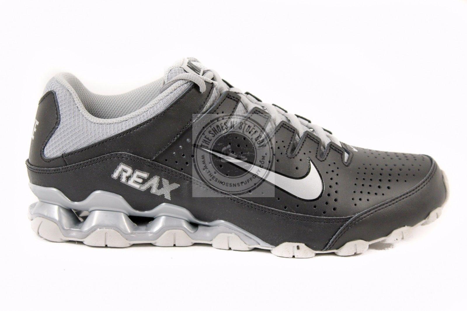 New Men\u0027s Nike Reax Run 8 TR Running Shoes Black Silver 616272 001 Size 11.5