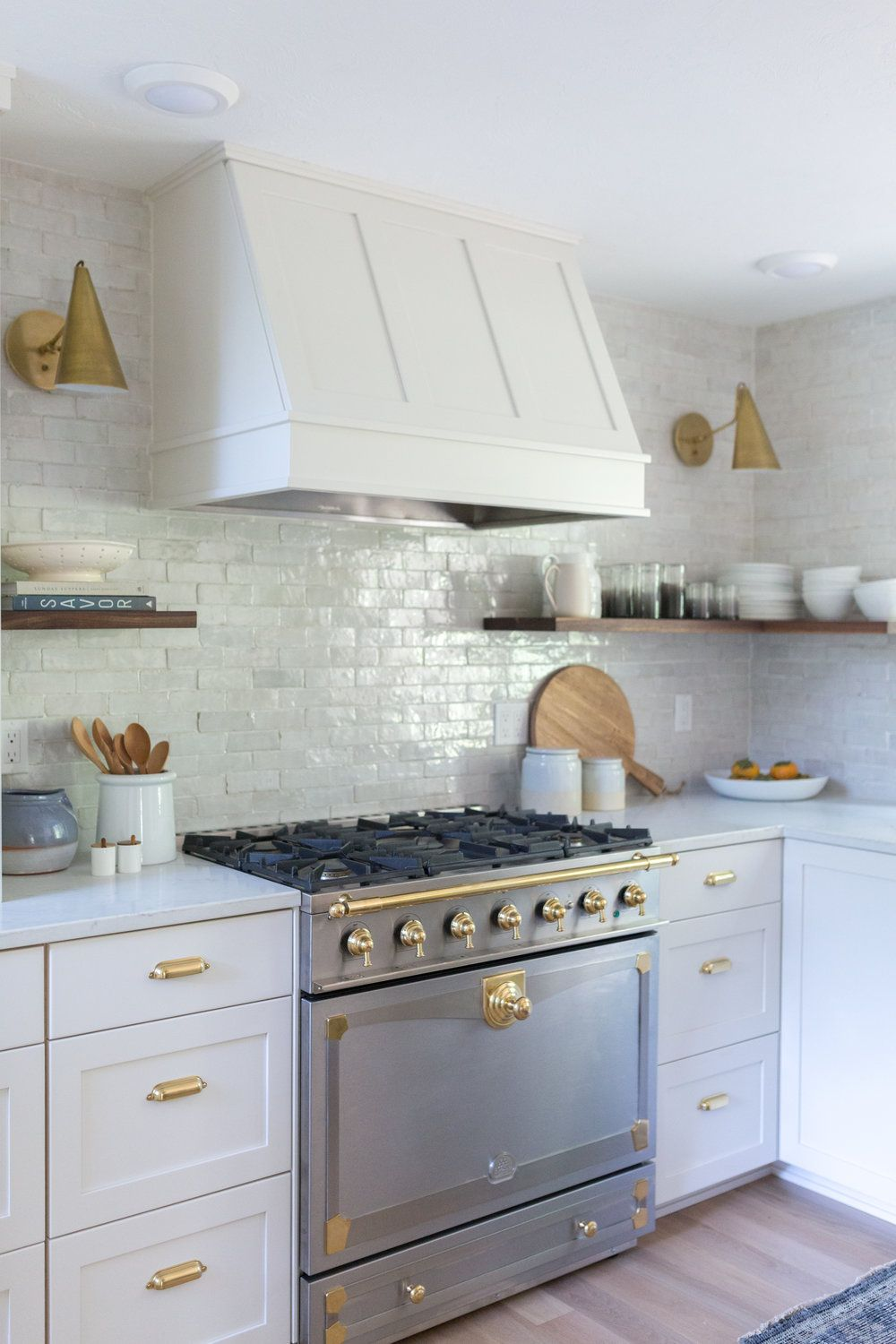 Before And After Kei And Jen S Amazing Galley Kitchen Transformation Bay On A Budget Kitchen Backsplash Designs Herringbone Tiles Kitchen Open Concept Kitchen