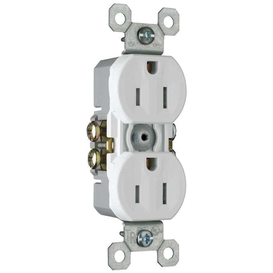 Legrand 10-Pack 15-Amp 125-Volt White Indoor Duplex Wall Tamper ...