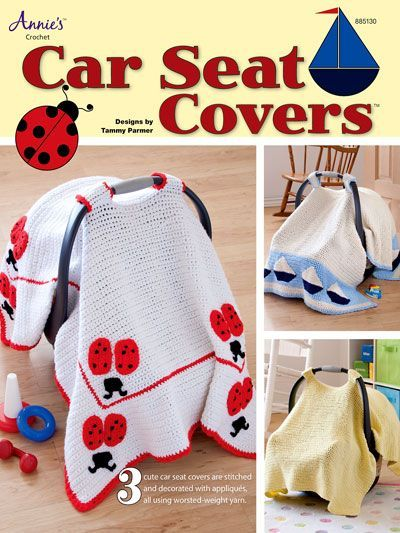 Babys Crochet Cart Seat Cover Pattern At Annies Baby Car Seat