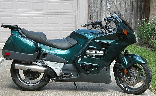 honda st1100 with a custom bmw oxford green pearl paint job