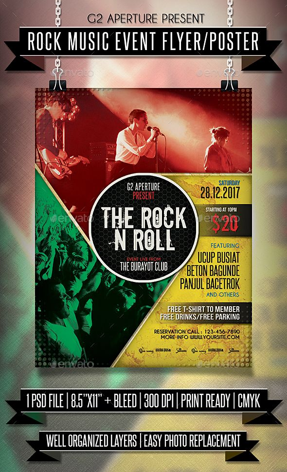Rock Music Event Flyer  Poster  Event Flyers Rock Music And